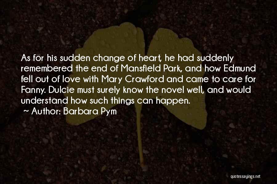 Mansfield Park Fanny And Edmund Quotes By Barbara Pym