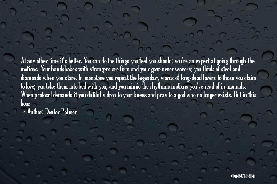 Manuals Quotes By Dexter Palmer