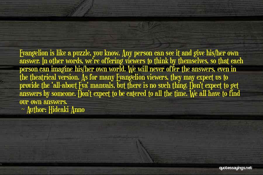 Manuals Quotes By Hideaki Anno