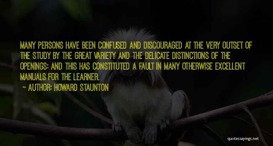 Manuals Quotes By Howard Staunton