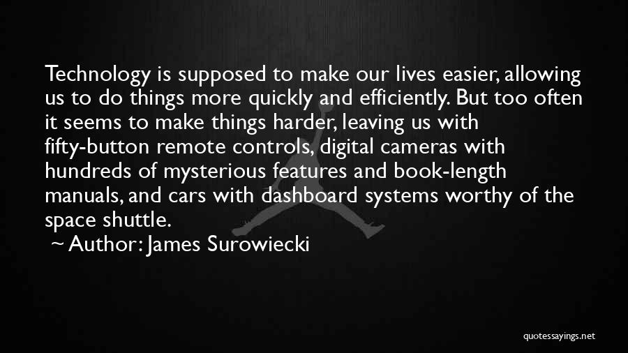 Manuals Quotes By James Surowiecki