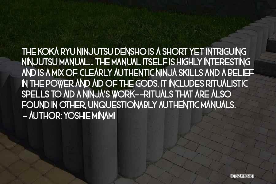 Manuals Quotes By Yoshie Minami