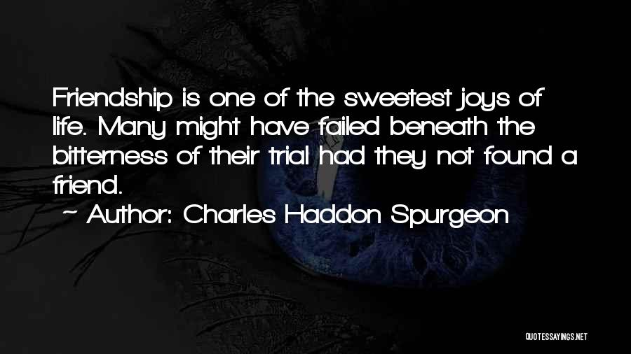 Many Friendship Quotes By Charles Haddon Spurgeon