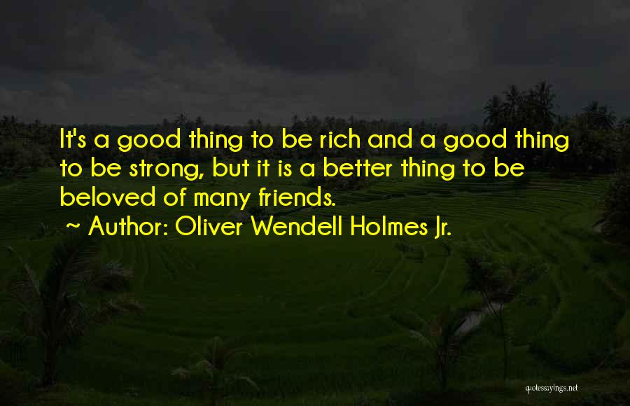 Many Friendship Quotes By Oliver Wendell Holmes Jr.