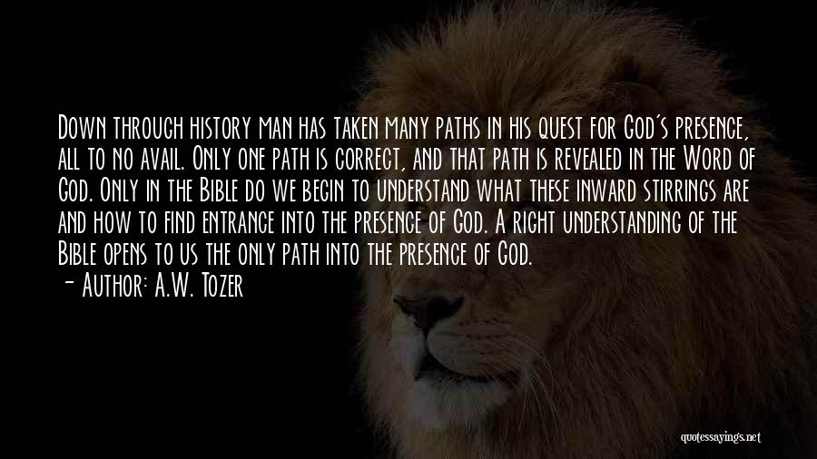 Many Paths To God Quotes By A.W. Tozer