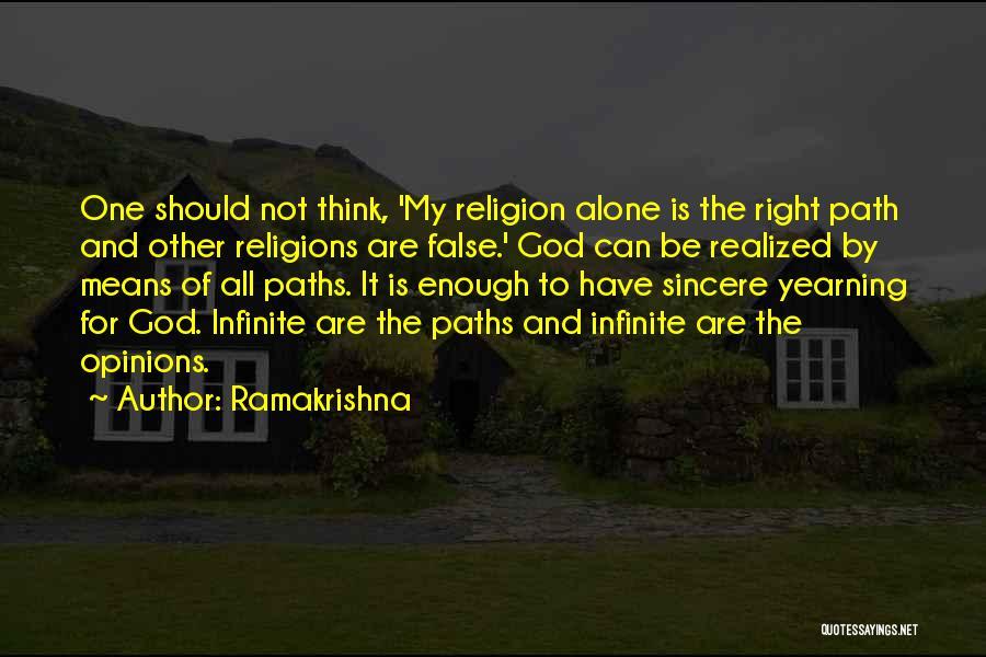 Many Paths To God Quotes By Ramakrishna