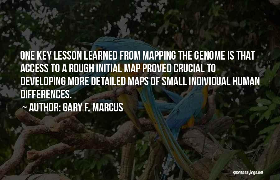 Mapping Quotes By Gary F. Marcus