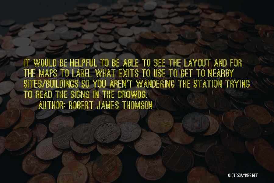 Maps And Quotes By Robert James Thomson