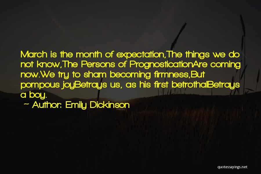 March Month Quotes By Emily Dickinson
