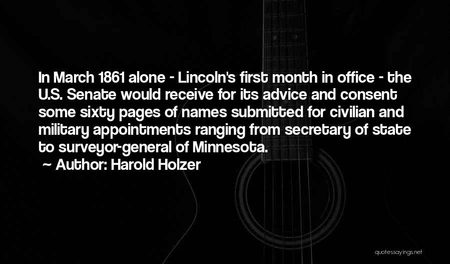 March Month Quotes By Harold Holzer