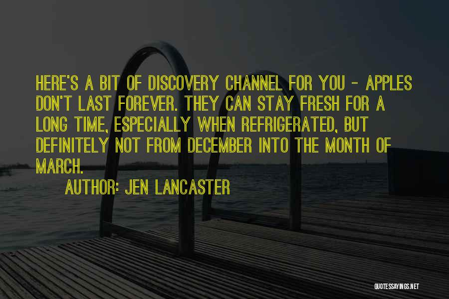 March Month Quotes By Jen Lancaster