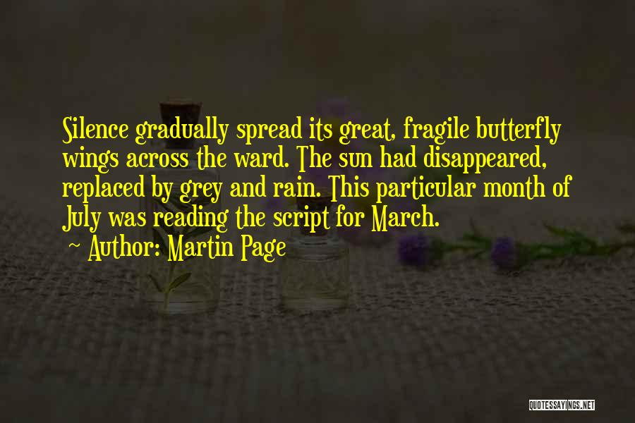 March Month Quotes By Martin Page