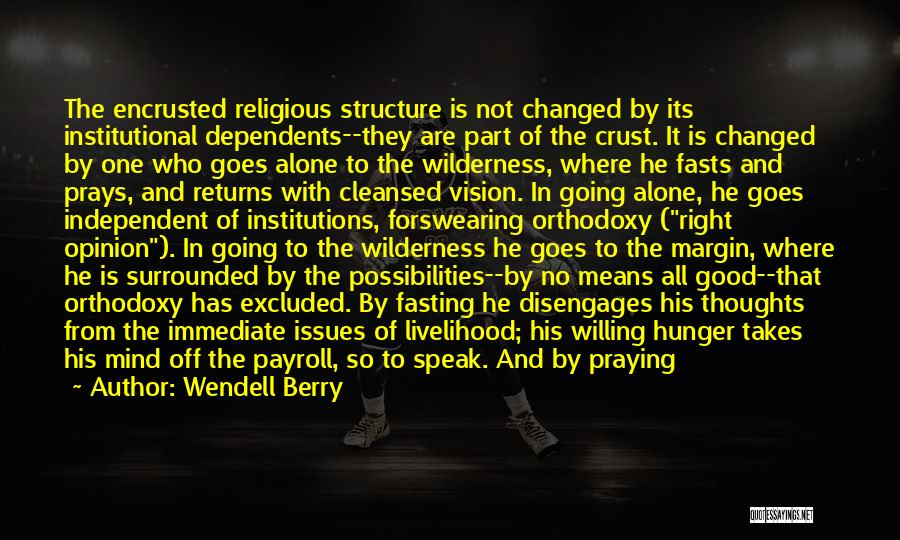 Marginal Quotes By Wendell Berry