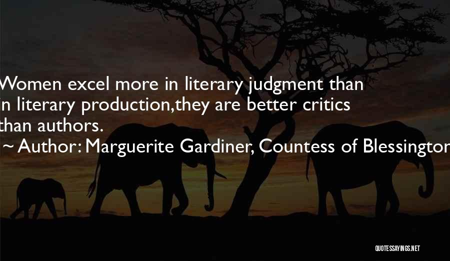Marguerite Gardiner, Countess Of Blessington Quotes 651209