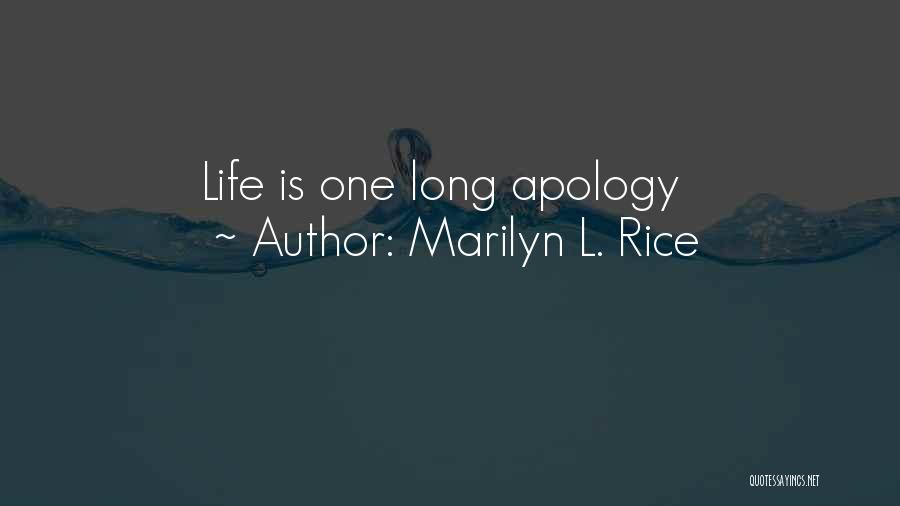 Marilyn L. Rice Quotes 1160433