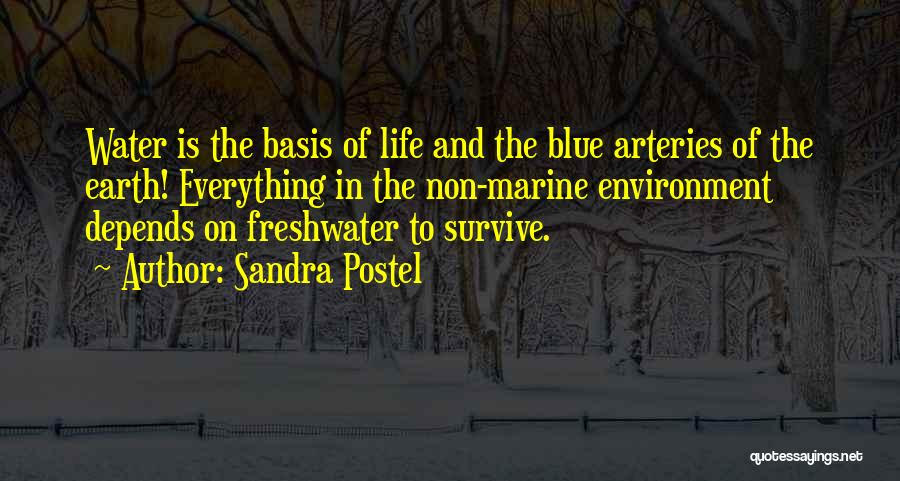 Marine Life Quotes By Sandra Postel