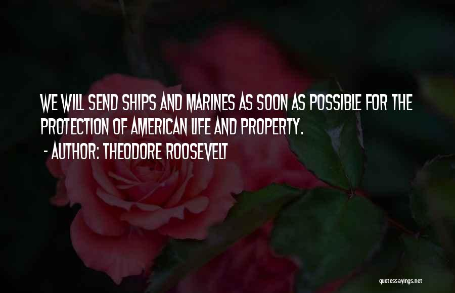 Marine Life Quotes By Theodore Roosevelt