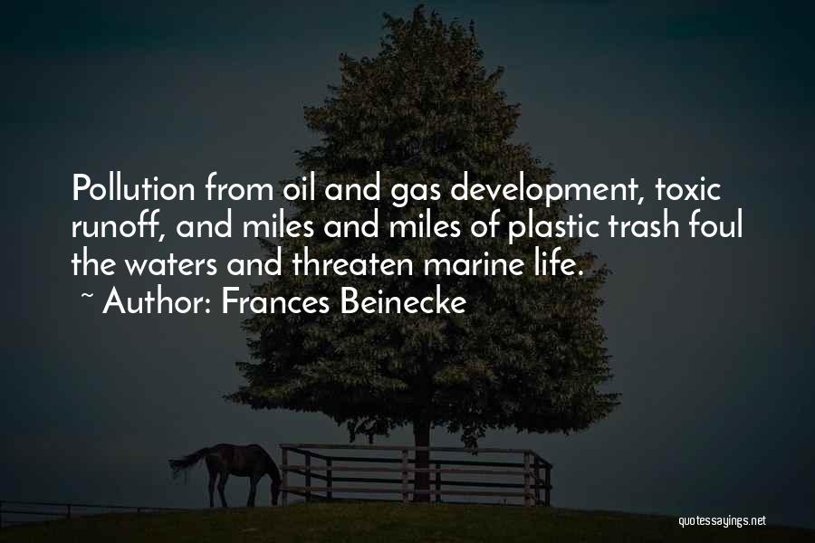 Marine Pollution Quotes By Frances Beinecke