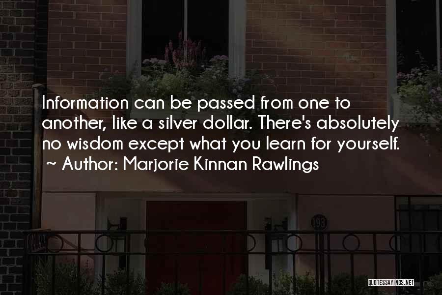 Marjorie Kinnan Rawlings Quotes 488774