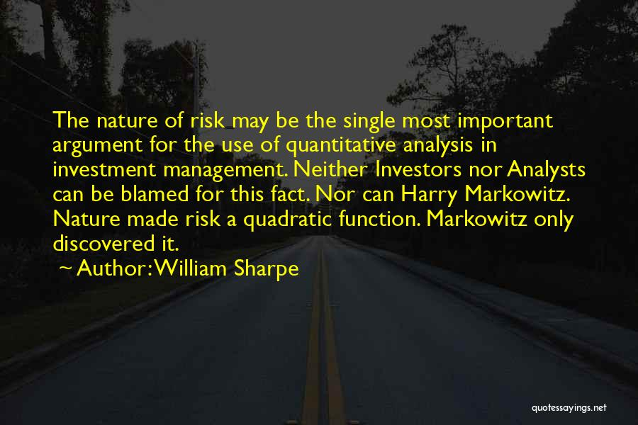 Markowitz Quotes By William Sharpe
