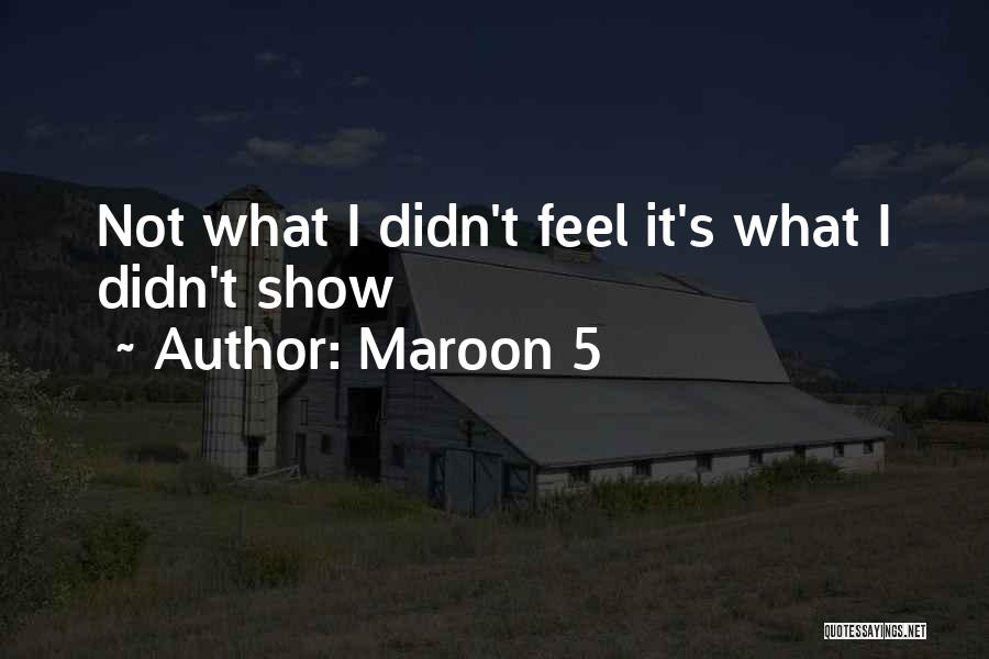 Maroon 5 Quotes 1517458