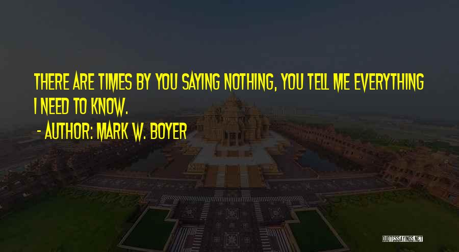 Marriage Counseling Quotes By Mark W. Boyer