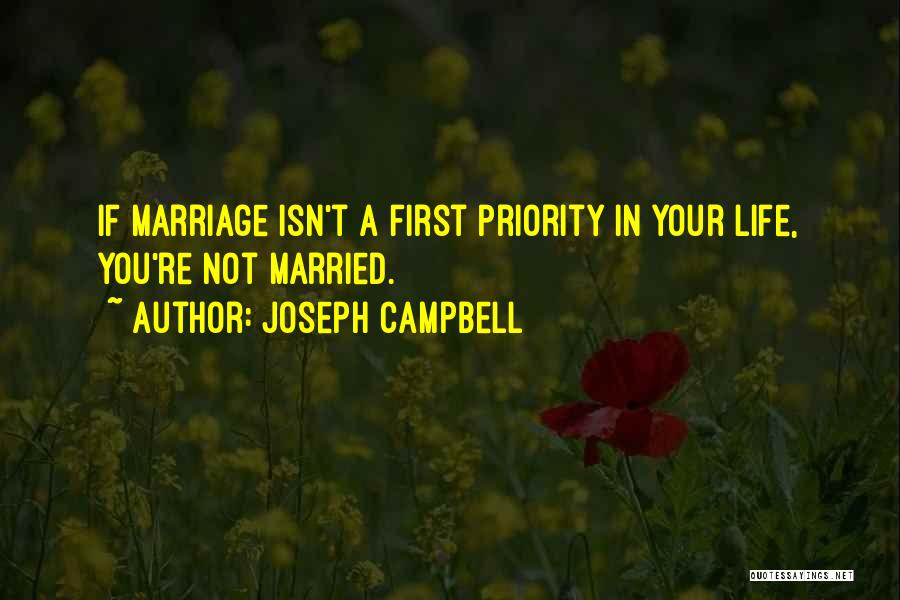 Marriage Isn't Quotes By Joseph Campbell