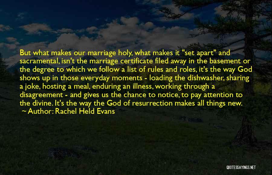 Marriage Isn't Quotes By Rachel Held Evans
