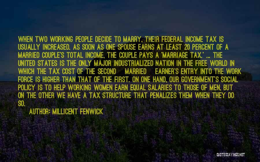 Marry Couple Quotes By Millicent Fenwick