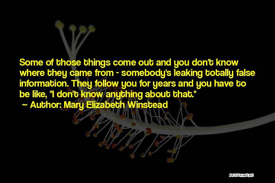 Mary Elizabeth Winstead Quotes 322478