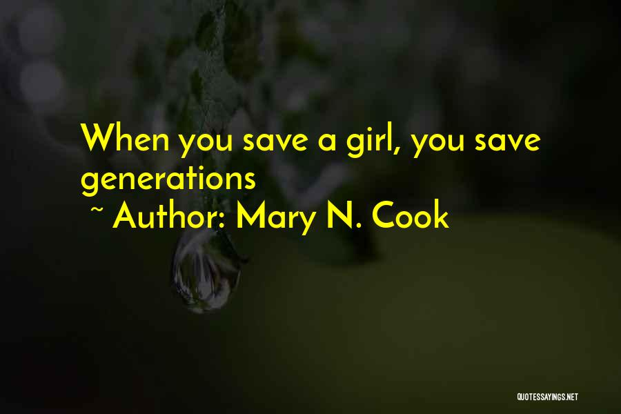 Mary N. Cook Quotes 1860113