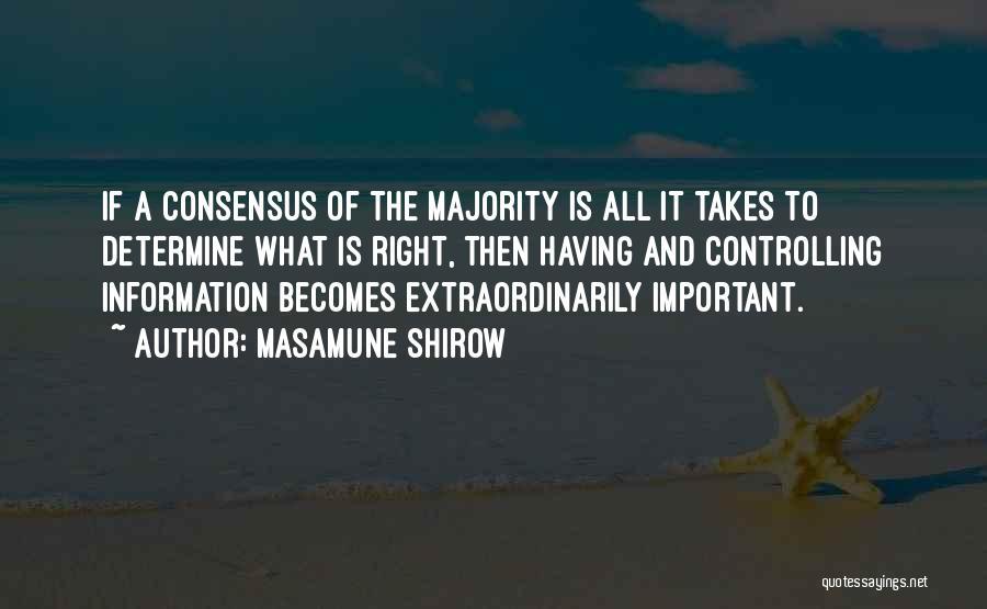 Masamune Shirow Quotes 537379