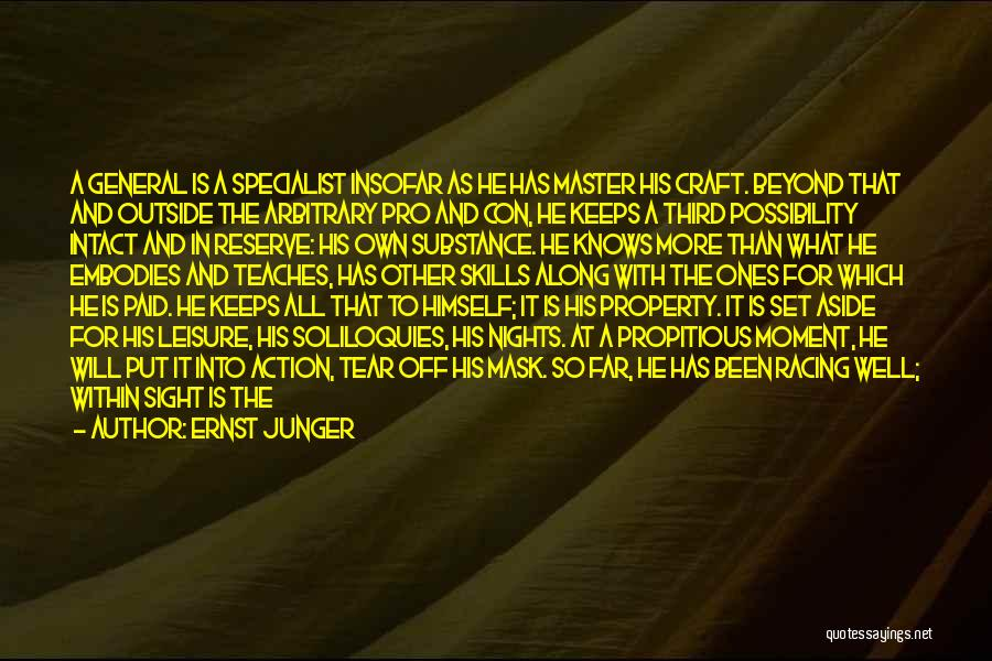 Mask Quotes By Ernst Junger