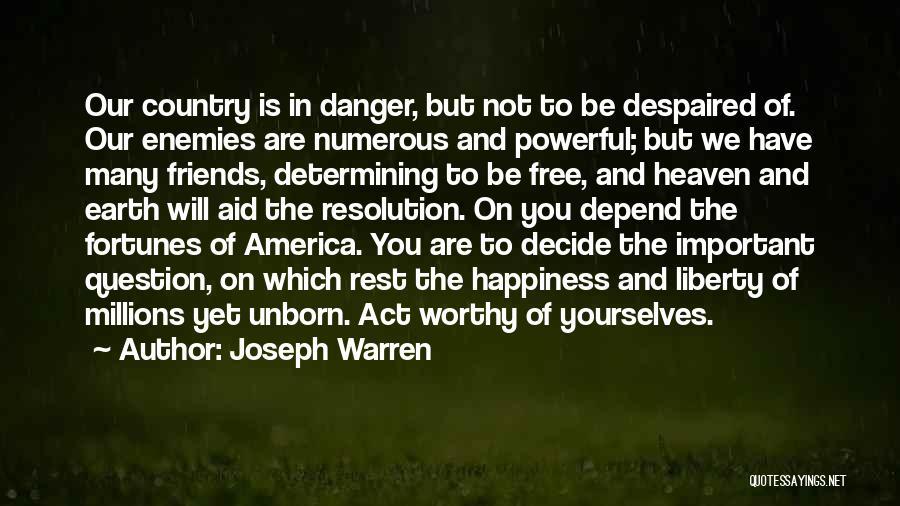 Massacre Quotes By Joseph Warren