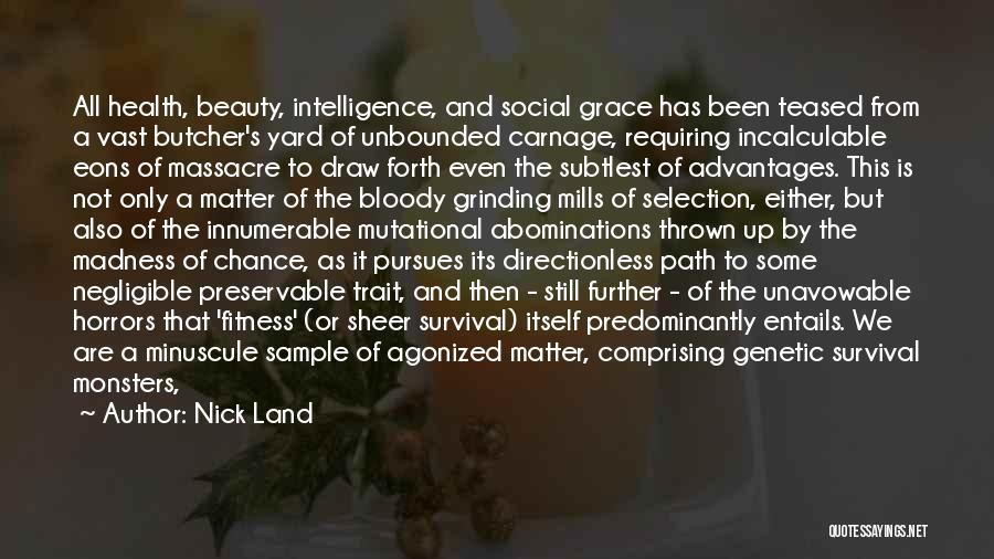 Massacre Quotes By Nick Land