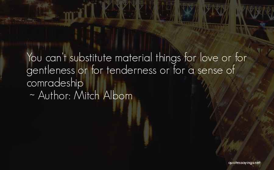Material Things Over Love Quotes By Mitch Albom