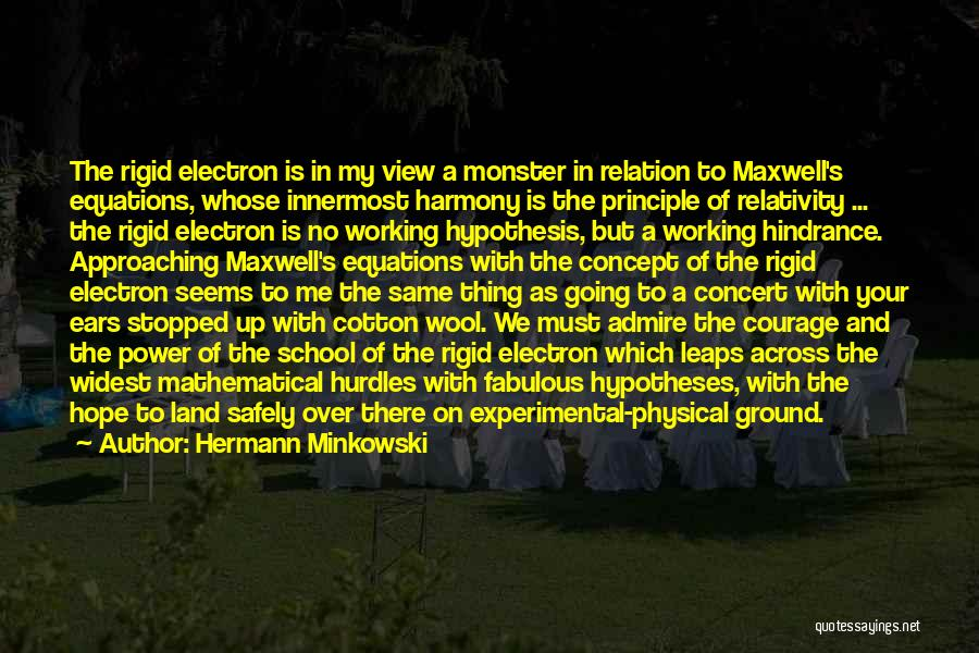 Mathematical Equations Quotes By Hermann Minkowski