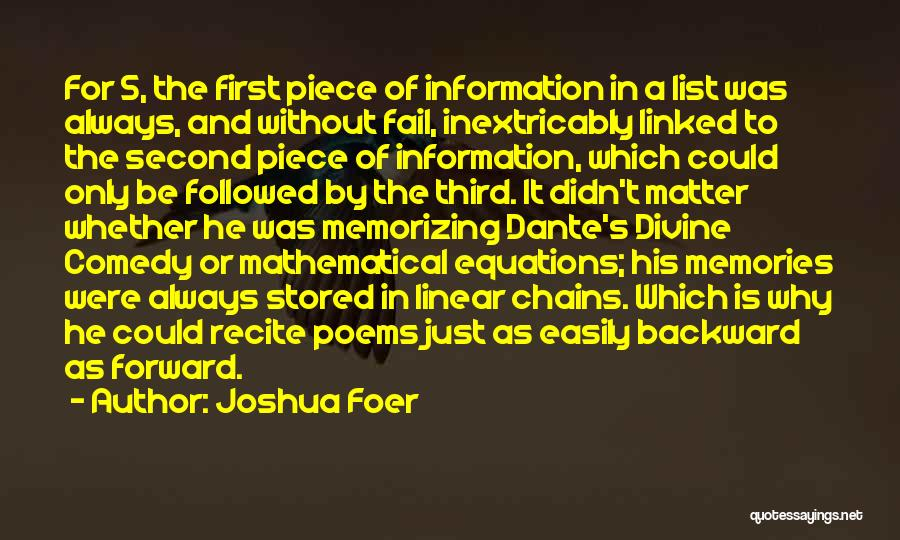 Mathematical Equations Quotes By Joshua Foer
