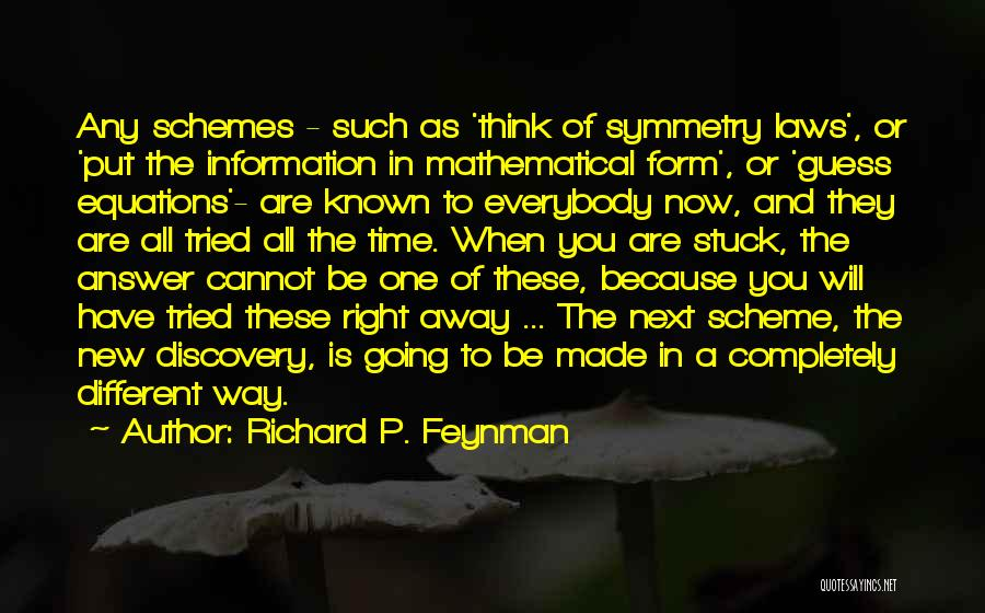 Mathematical Equations Quotes By Richard P. Feynman