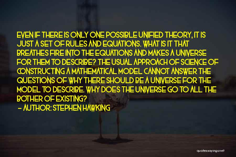 Mathematical Equations Quotes By Stephen Hawking