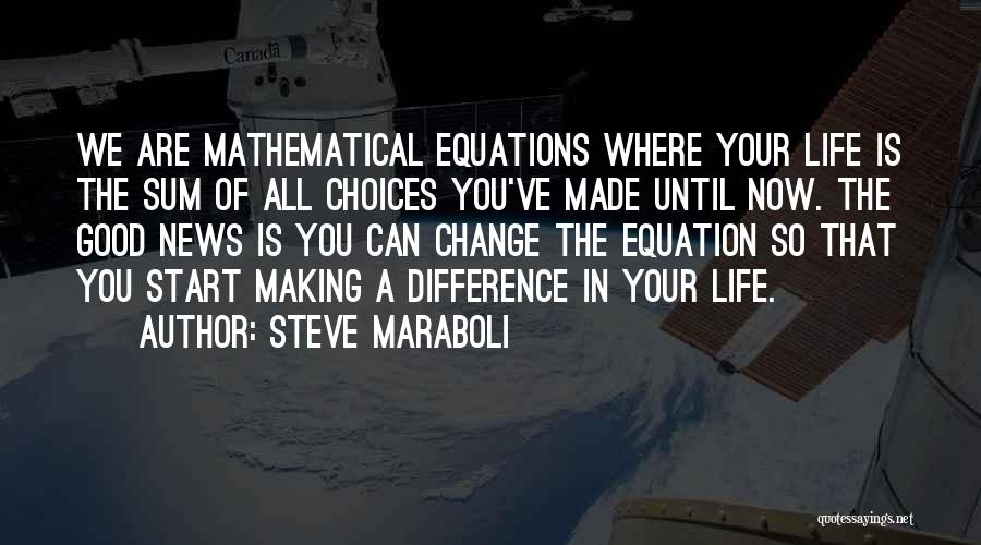 Mathematical Equations Quotes By Steve Maraboli