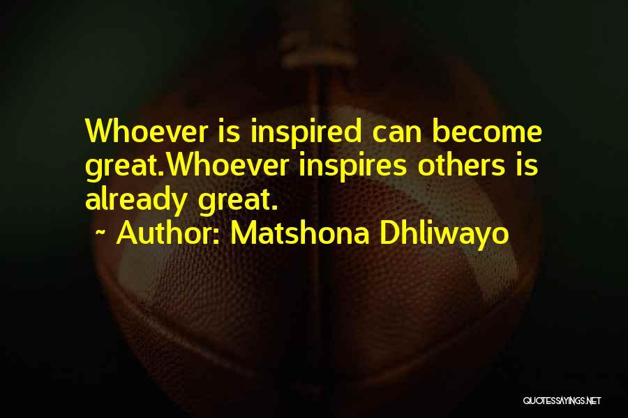 Matshona Dhliwayo Quotes 1631707