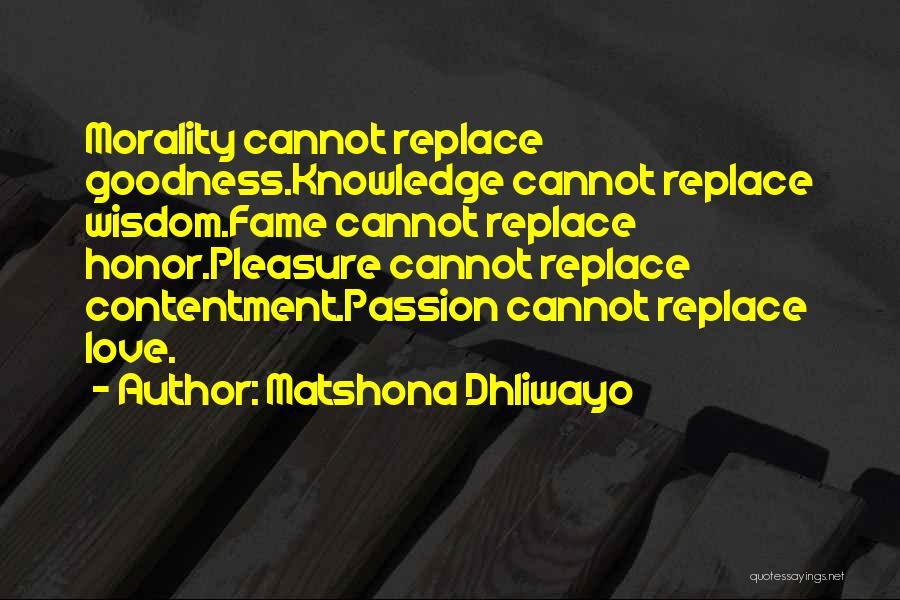 Matshona Dhliwayo Quotes 204923