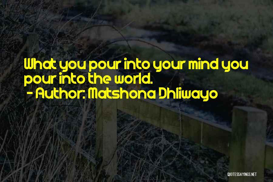 Matshona Dhliwayo Quotes 840569