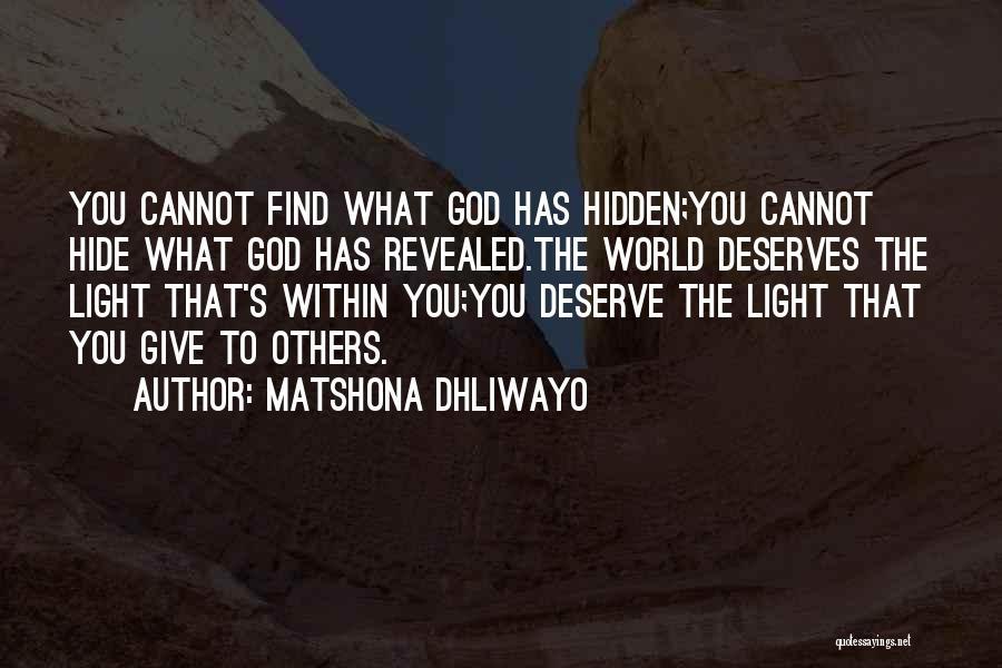 Matshona Dhliwayo Quotes 992558