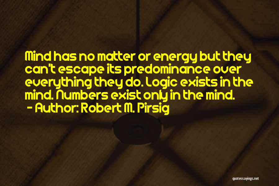 Matter Over Mind Quotes By Robert M. Pirsig