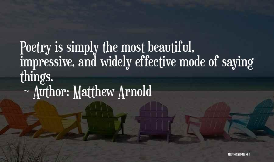 Matthew Arnold Quotes 1016436