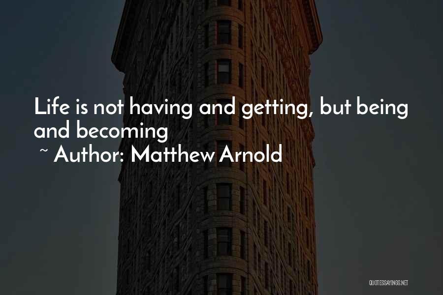 Matthew Arnold Quotes 91944