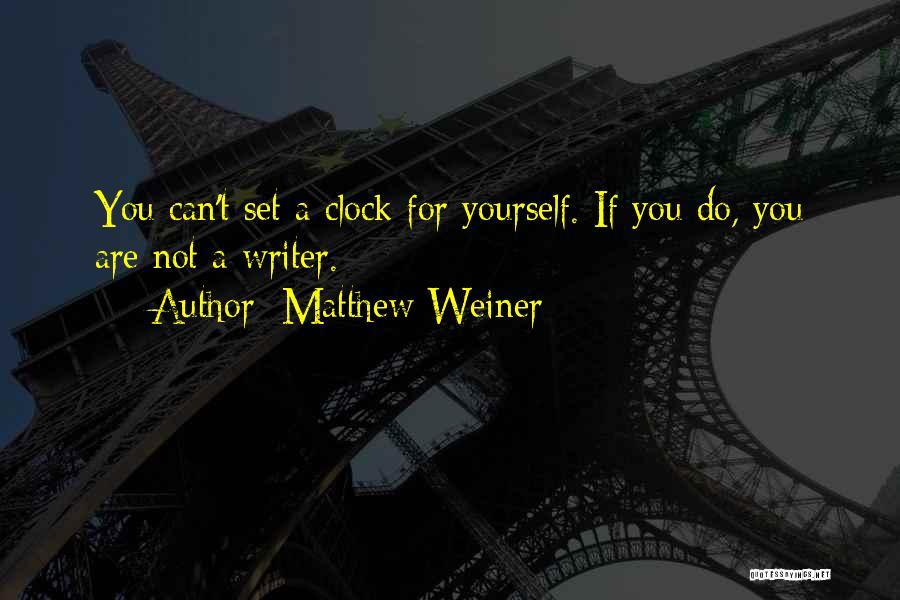 Matthew Weiner Quotes 1702313