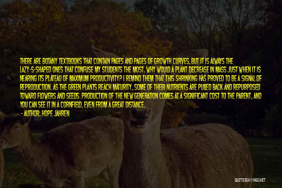 Maturity Comes Quotes By Hope Jahren